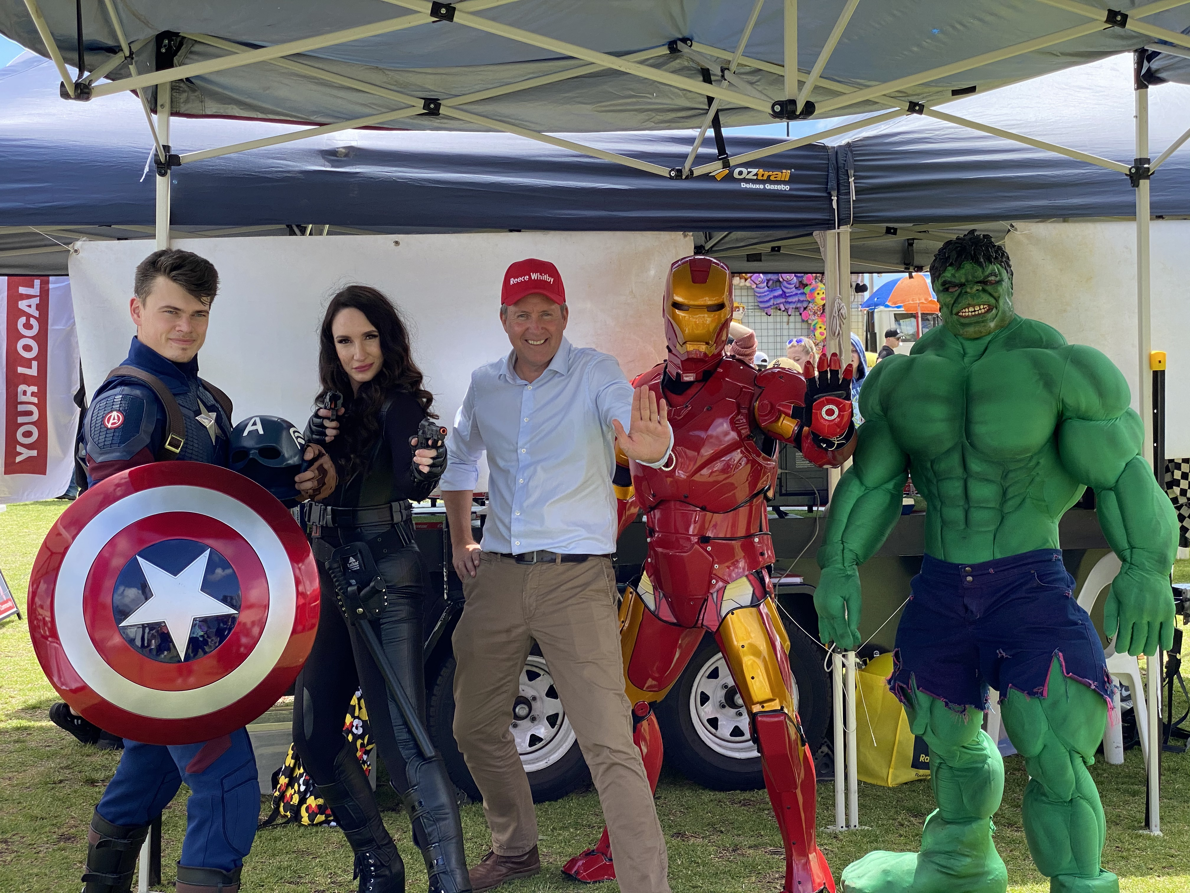 Reece and some super friends at the Baldivis Fair